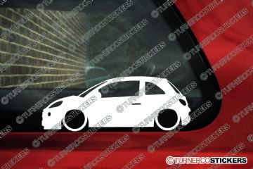 2x LOW Vauxhall / Opel Adam silhouette stickers, Decals